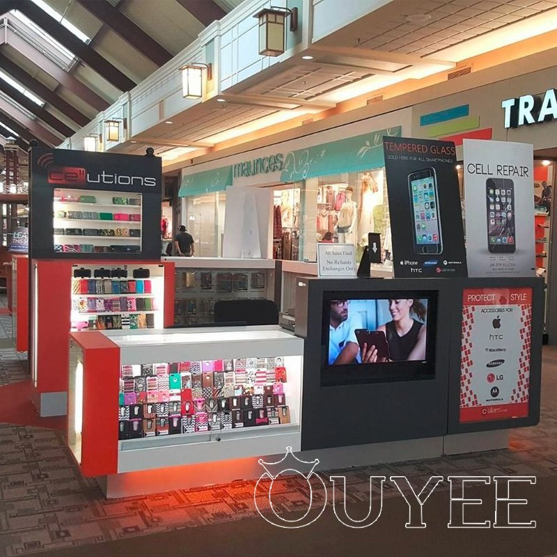 Shopping Mall Mobile Phone Kiosk Design OYCK24